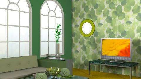Green and Gold 2 - Glamour - Living room  - by Berringer