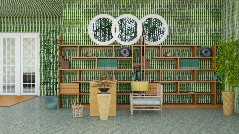 Bamboo Office  - Modern - Office  - by InteriorDesigner111