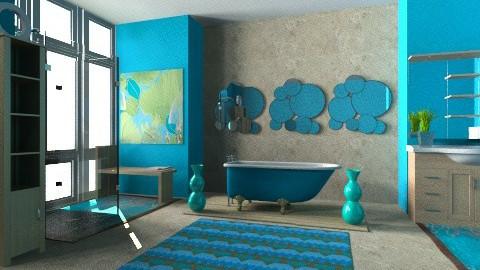 Turquoise Bath - Eclectic - Bathroom  - by Karenina