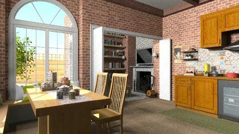 rustic kitchen - Classic - Kitchen  - by Maria_Julia