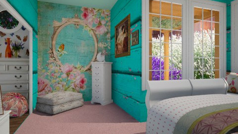 flower dressing - Eclectic - Bedroom  - by donella
