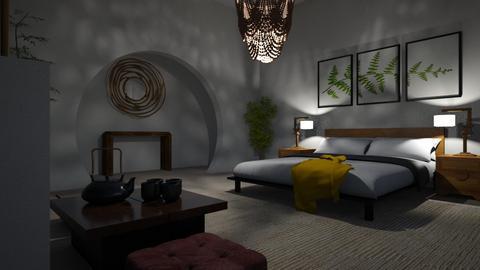 zen bedroom - Bedroom  - by ElvenMoon