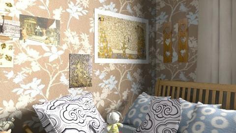 Rustic bedroom - Rustic - Bedroom  - by lih_lih