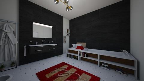 bath black and white - Minimal - Bathroom  - by deleted_1537129383_marylewistv