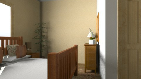 Brown bedroom - Country - Bedroom  - by eszti