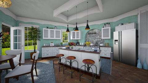 farm kitchen - by Christine Keller