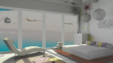 bedroom by the beach - Modern - Bedroom - by Aliya Al