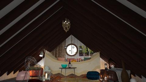 Attic - Rustic - Living room  - by HenkRetro1960