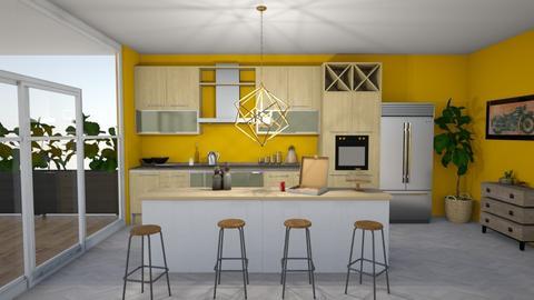yellow kitchen - Kitchen  - by suu