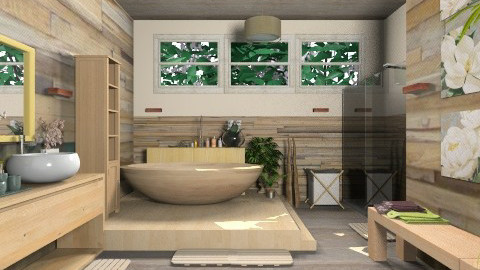 Wood bathroom idea - Country - Bathroom  - by Ayisha1999