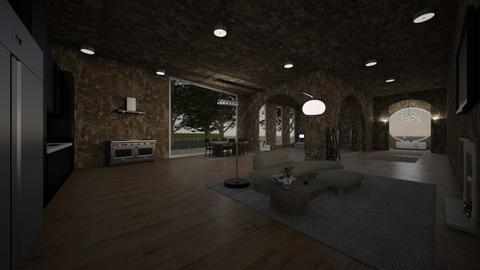 Brutalist - Living room  - by jarellano89