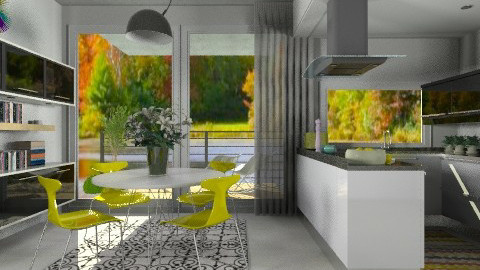 Sunny Autmn Kitchen - Modern - Kitchen  - by ovchicha