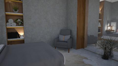 Gray bedroom - Bedroom  - by snjeskasmjeska