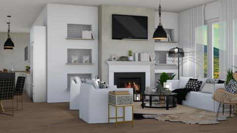 moderne - Modern - Living room  - by NEVERQUITDESIGNIT