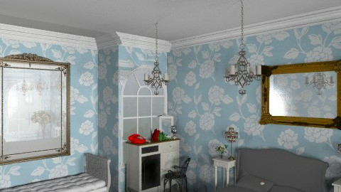 Antique Blue - Abbie Ingleby - Vintage - Bedroom  - by Coco_Juno