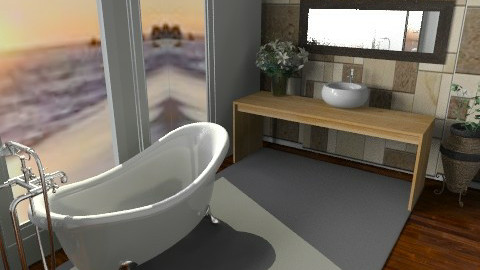 bathroom with a view - Rustic - Bathroom  - by 2f5fe43g