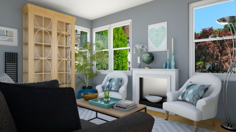 Color Scheme Homework - Eclectic - Living room - by LadyVegas08