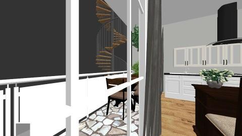 2 floor living room - Rustic - Living room  - by valerig