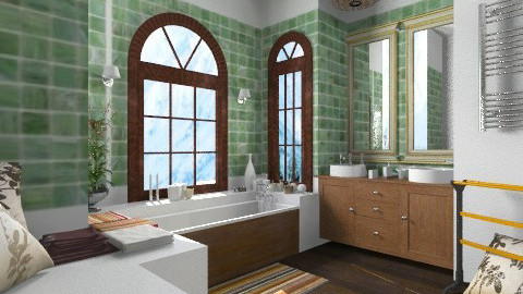 hivernale - Retro - Bathroom  - by calu13