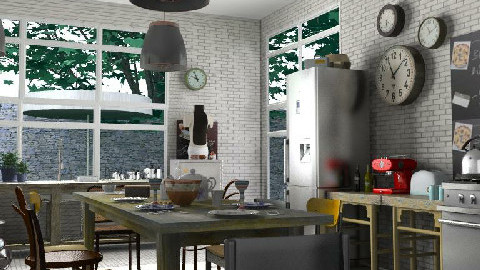 Dream kitchen - Retro - Kitchen - by lilica