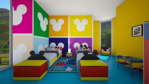 mickey mouse - Kids room  - by KatieBowes