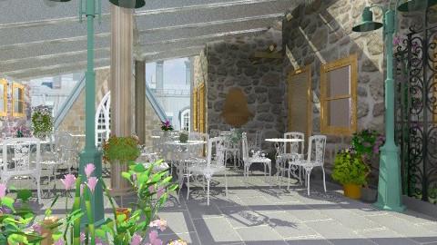 Terrasse du Vieux Moulin - Rustic - Garden  - by Bibiche