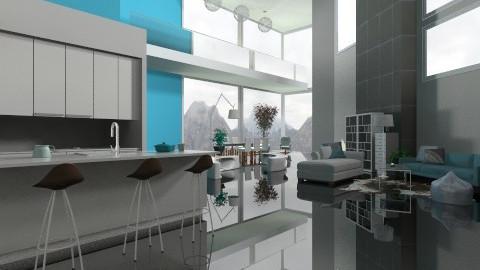 Far ceiling - Modern - Kitchen  - by cready