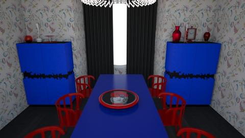 Red chair and blue table - Modern - Dining room - by Perpetto