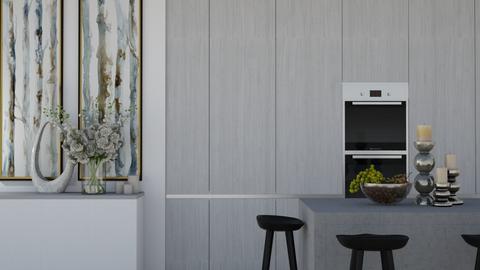 grey kitchen - Kitchen  - by Larasebt