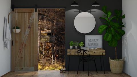 Wood Hallway - Rustic - by KittyKat28