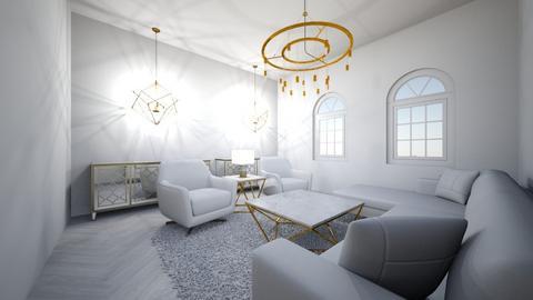 black living room - Modern - Living room  - by syli2726