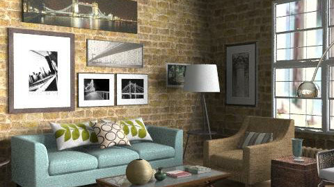 Loft - Living Area - Eclectic - Living room  - by LizyD