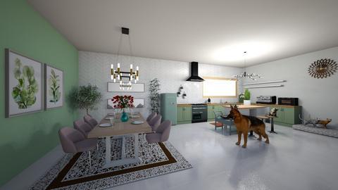 KitchenTeal - Kitchen  - by Joana5