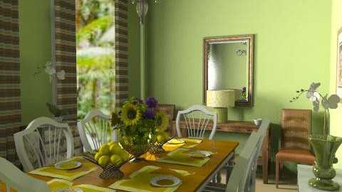 Spring Dining - Country - Dining room  - by natural11