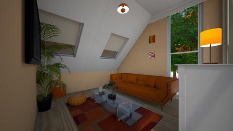 orange living room - Living room  - by osmacik