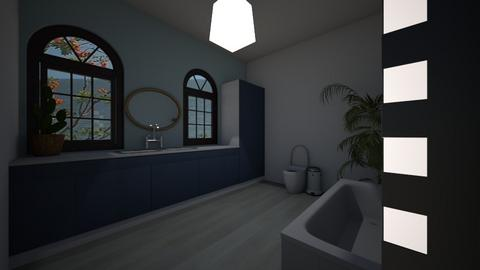 Aesthetic blue bathroom - Bathroom  - by TheKalaniPlays