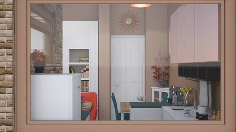 tiny kitchen in cali - by Teri Dawn