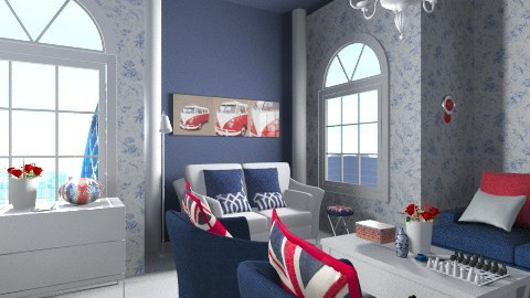 London Living Room - Eclectic - Living room  - by Kelzoid