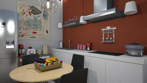 Apartment one space room2 - Kitchen  - by nonanymous_