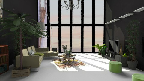 Paint It Black - Minimal - Living room  - by nikanarbut
