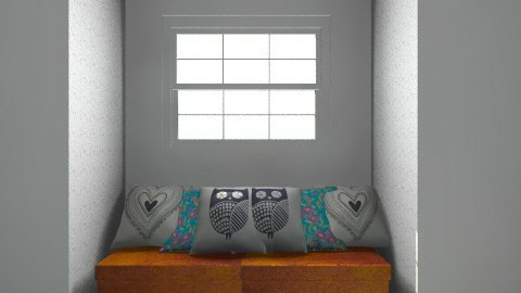 Bedroom in new house - Retro - Bedroom  - by my_english_rose