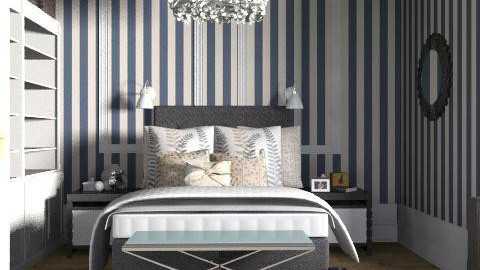 Stripy sleek sleepin' - Classic - Bedroom  - by ovchicha