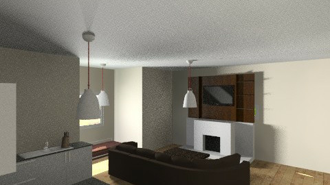 living room and kitchen - Modern - by wajiyh78