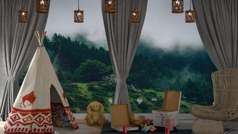 indoor picnic - by nitya_avvari
