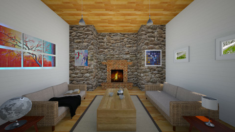 Reading Room - Rustic - Living room - by Carthaginian