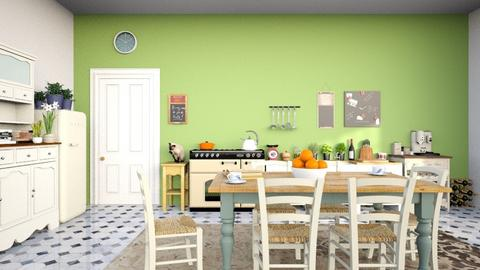Rustic kitchen and dining space - Kitchen  - by RHD
