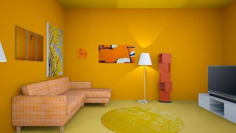 Blue living room  - Modern - Living room  - by Johnnn2314