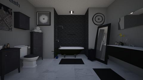 Greyscale  - Bathroom  - by Jodie Scalf