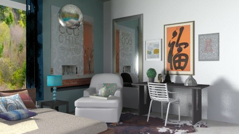 Bluees - Eclectic - Bedroom  - by sahfs