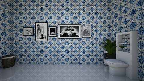 Vintage Art Bathroom - Vintage - Bathroom  - by yaizalloriginal